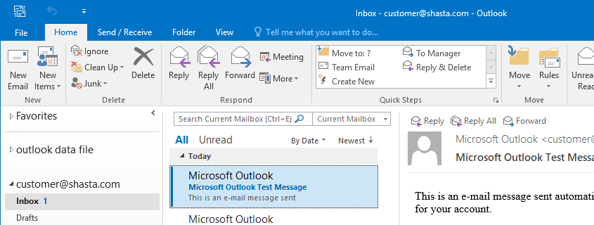 Outlook 2016 Screenshot Step 10